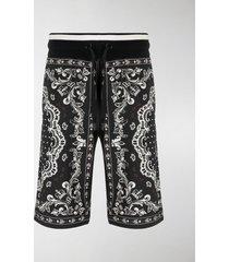 dolce & gabbana bandana print bermuda shorts