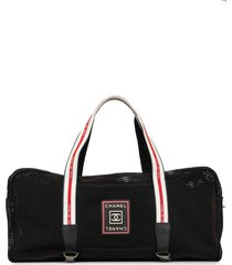chanel pre-owned sports line travel bag - black
