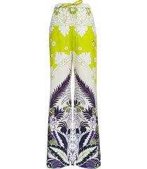 valentino tropical world tapestry print cotton poplin pants
