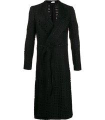 comme des garçons homme plus cut-out detail tie waist coat - black