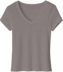 linnen shirt, taupe 40