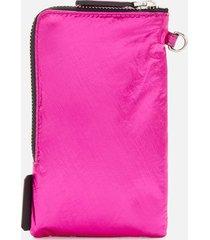 karl lagerfeld women's k/ikonik nylon pouch - metallic pink