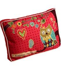 almofada coruja ii com tecido de algodão e enchimento