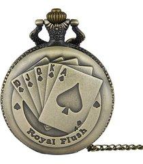 orologio da tasca a quarzo con figura poker