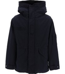 mr & mrs italy midi curtain parka with removable fur interior