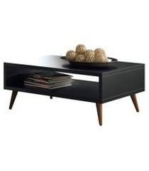 mesa de centro com pés palito lucy preto - hb móveis