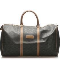 christian dior honeycomb travel bag brown, brown, light brown sz: e