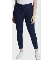 jeans pitillo con apliciones azul curvi