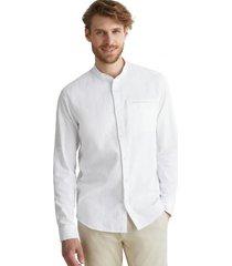 camisa con textura en 100% algodón ecológico blanco esprit