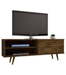 rack onix madeira rústica móveis bechara marrom