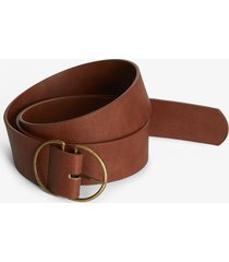 maurices plus size womens brown double buckle ring belt