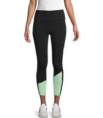 dkny sport women's colorblock high-waist active leggings - lilac - size m