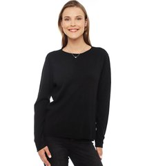 sweater privilege negro - calce holgado