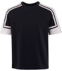 emporio armani logo print cotton t-shirt - navy 3g1t931j37z