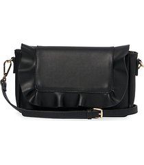 frill faux leather convertible crossbody