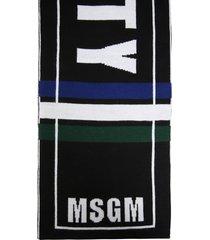 msgm wool blend scarf