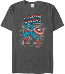 marvel men's comic collection retro captain america stamp short sleeve t-shirt