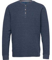 tee t-shirts long-sleeved blå blend