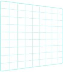 memory board quadro de fotos verde água - 45cm x 45cm 6 mini prendedores