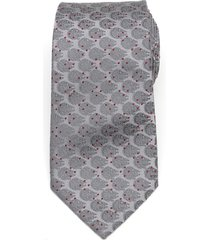 men's cufflinks, inc. millennium falcon dot silk tie, size one size - grey