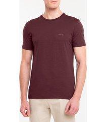 camiseta masculina slim minimalista flamê bordô calvin klein - p