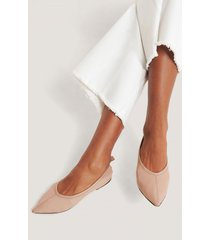 na-kd shoes pointy leather ballerinas - pink
