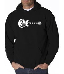 la pop art men's word art hoodie - come together