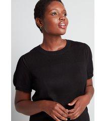 lane bryant women's puffed-sleeve sweater tee 26/28 black