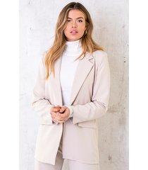 ultra oversized blazer beige