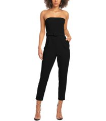 rachel rachel roy strapless belted jumpsuit