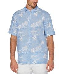 cubavera men's chambray floral shirt