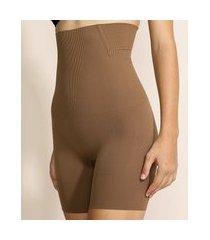 short plié skin modelador abdominal marrom