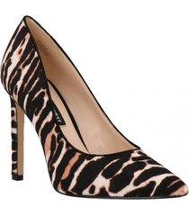 zapato cuero tatiana zebra mujer nine west