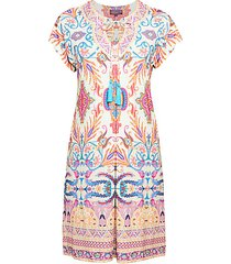 tassel print sheath dress