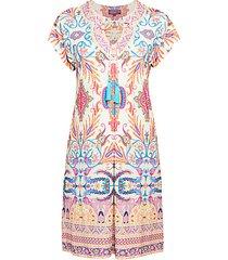 tassel print sheath dress