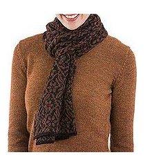 100% alpaca scarf, 'floral andes' (peru)