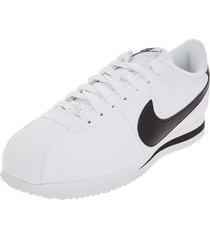 tenis lifestyle blanco/negro nike cortez basic leather