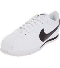 tenis lifestyle blanco/negro nike cortez basic leather