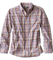 beacon stretch plain weave long-sleeved shirt, navy/tan, xx large