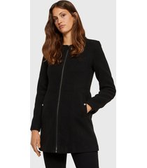 abrigo vero moda clara maris negro - calce regular