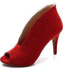 bota open boot fandarello vermelho - kanui