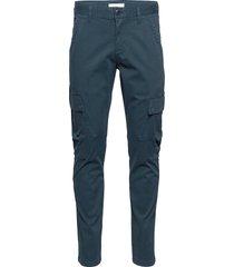 joe trekking pant - gots/vegan trousers cargo pants blå knowledge cotton apparel