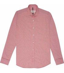 camisa business casual cuadros silueta slim fit para hombre 95922