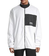 puma men's avenir hybrid track jacket - white - size m