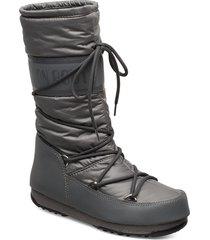 mb high nylon wp höga stövlar grå moon boot