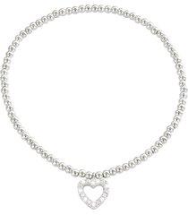 bracciale cuore in metallo e cristalli in stile boho chic per donna