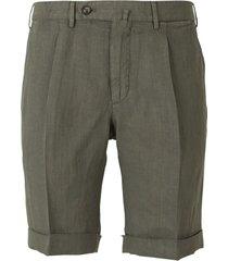 regular linen bermuda shorts