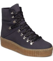 agda n shoes boots ankle boots ankle boot - flat svart shoe the bear