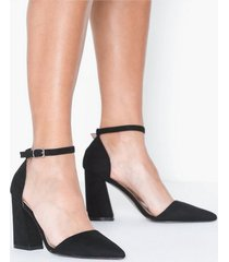 glamorous glamorous block heel high heel