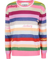 iceberg multicolor cotton sweatshirt